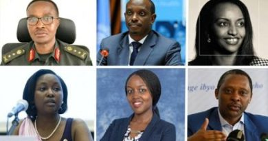 Who are the new ministers in the Rwanda's cabinet?