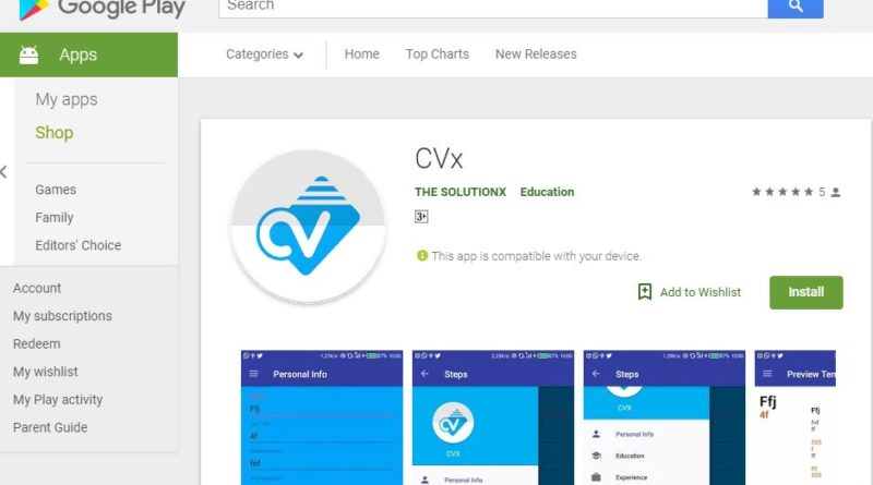 New CV builder mobile application solution to facilitate job seekers